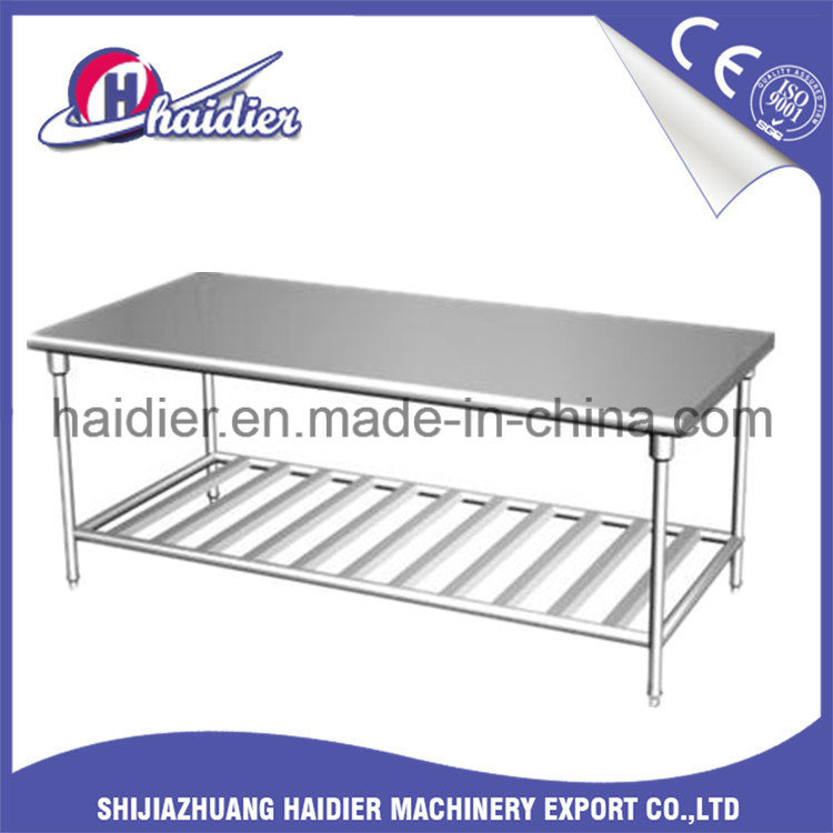 China Kitchen Equipment Stainless Steel Work Table Trolley With - Restaurant equipment stainless steel table