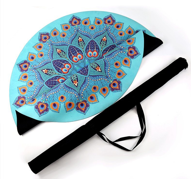 microfiber circle picnic yoga sports in plage serviette item mat towels round from de large ups summer up swimwear beach printed blanket cover