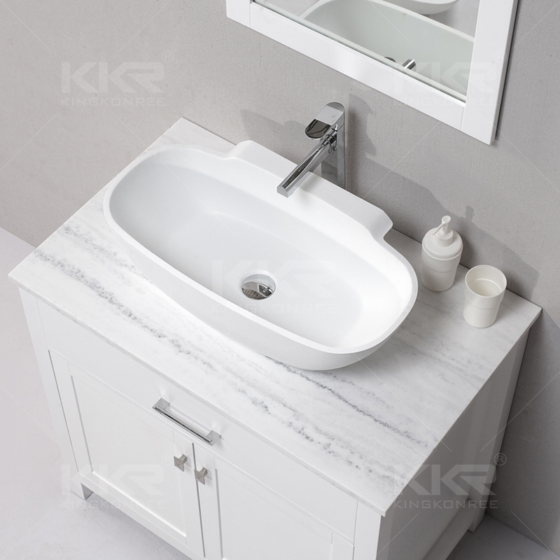 China Solid Surface Pure White Bathroom