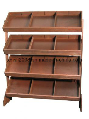 Wooden Book Shelf for Display (GL-067)
