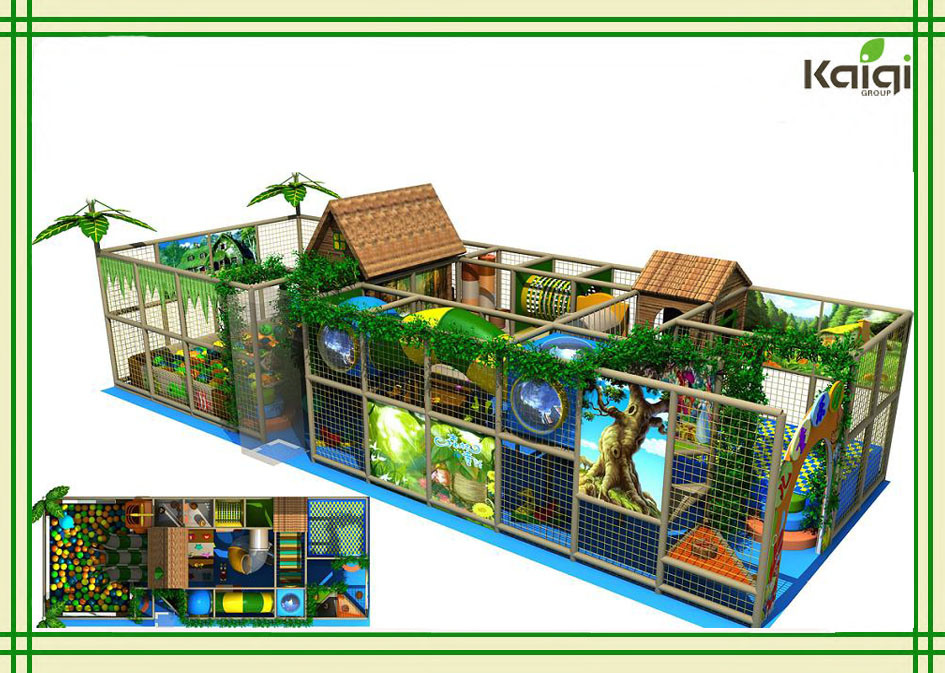 China Kaiqi Group Forest Tree House Indoor Playground For