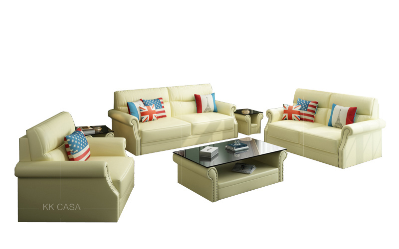 [Hot Item] Modular Living Room Leisure Leather Sleeper Sofa Set