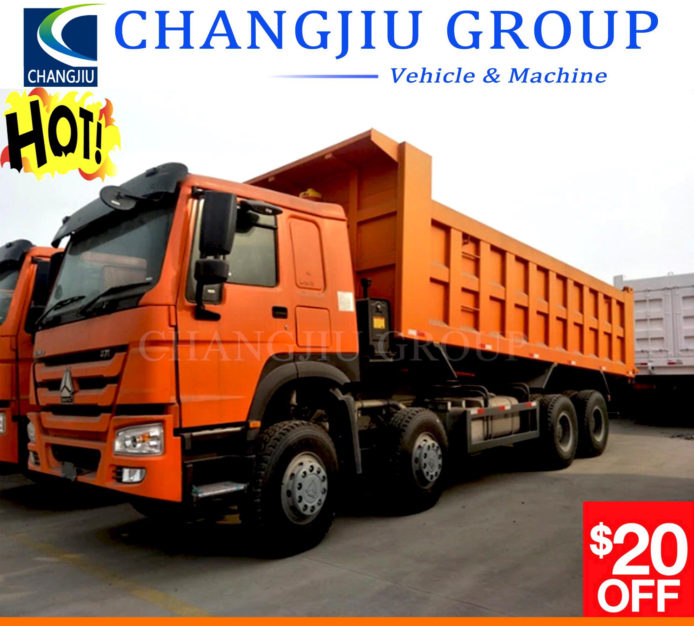 China Sino Truck Used 336HP 371HP HOWO 10 Wheels 12 Wheels