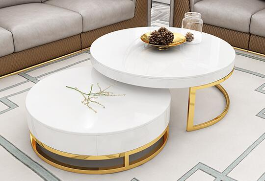 China Nordic Luxury Round Coffee Table Modern Minimalist