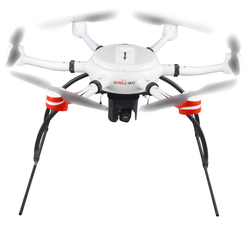 China 6kg Payload Flying Firefighting Industrial Uav Spell Kwt-X6l