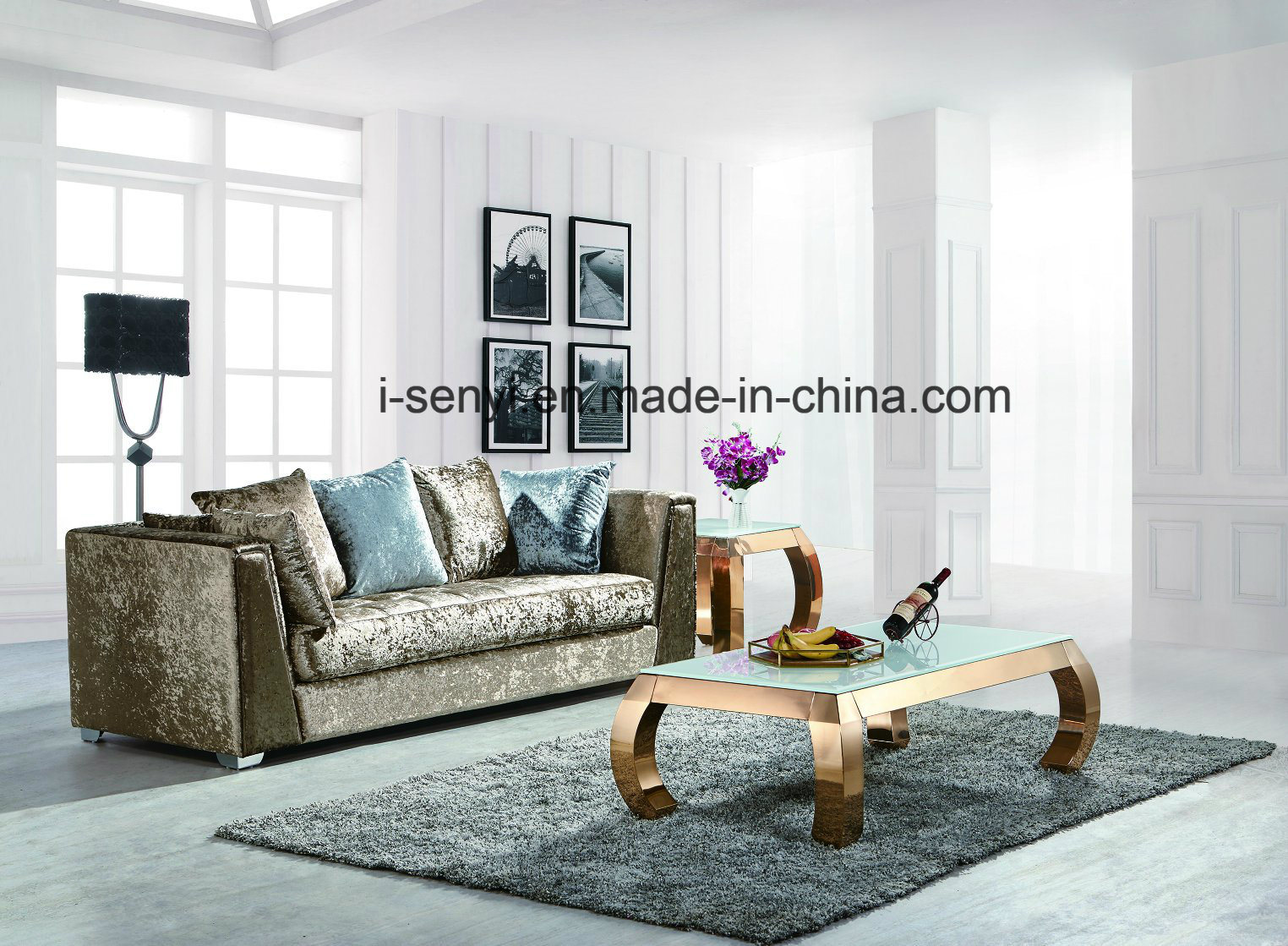 China Modern Italian Living Room Furniture Hotel Reception Sofa ...