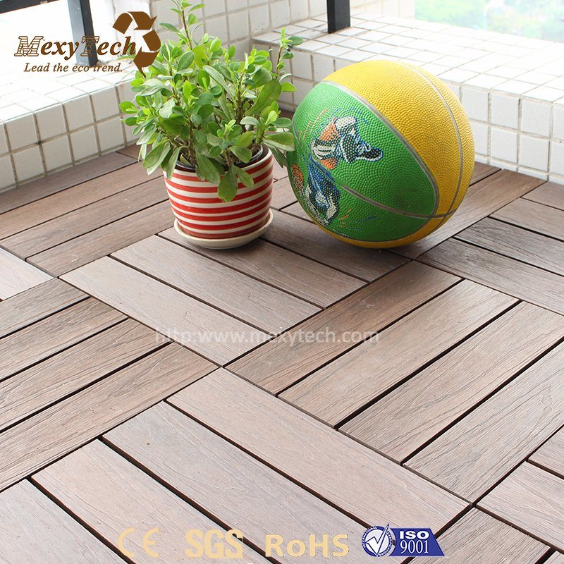 China Household Waterproof Portable Cheap WPC Wood Deck Tile for ...