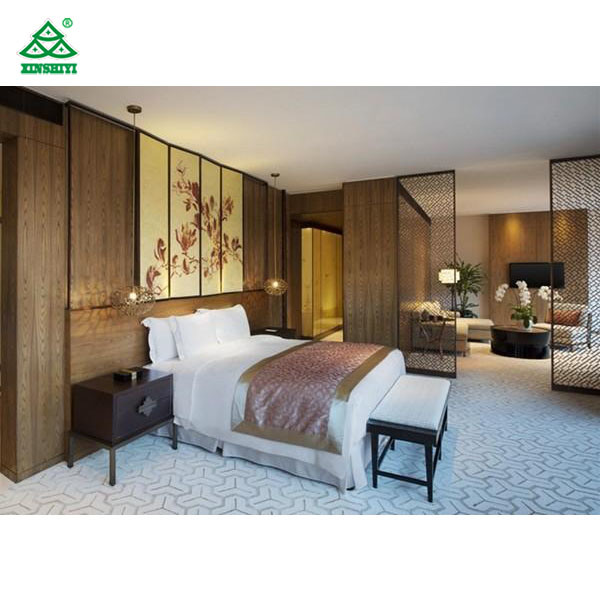 [Hot Item] Luxury Chinese Style Hotel Bedroom Furniture Classic Bedroom Set  for Resort