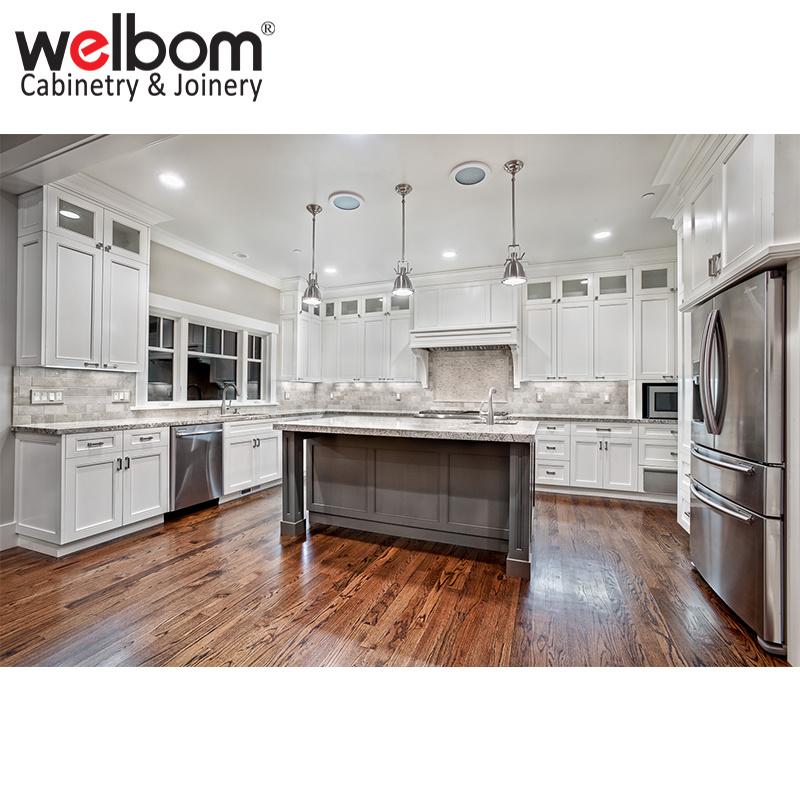 Hot Item New Design Modern White Solid Wood Kitchen Cabinet