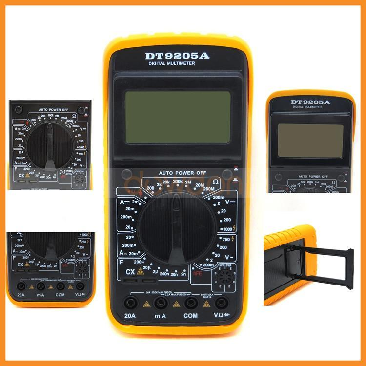 China Dt9205A LCD Digital Voltmeter Ammeter Ohm Test Meter ...