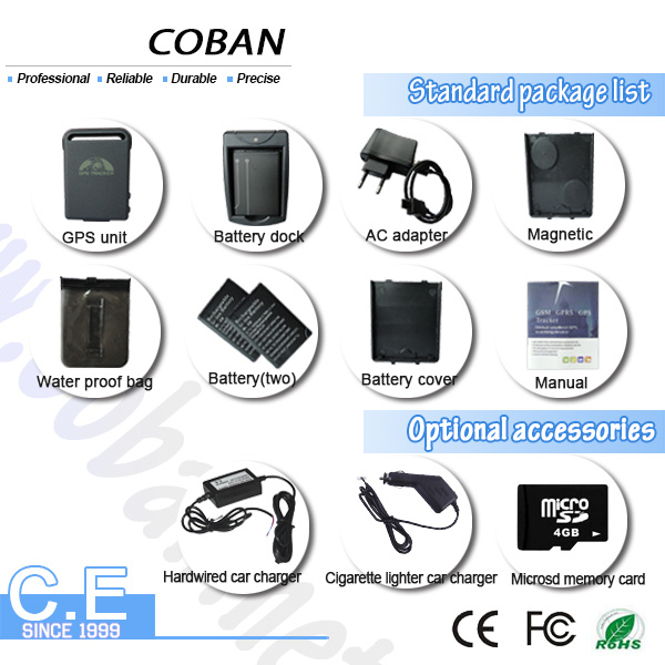 China Vehicle/Car /Personal GPS Tracker Tk102 with Cellular & GPS