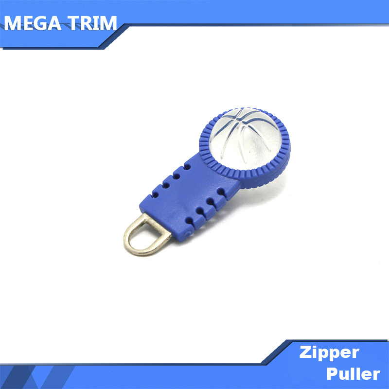 Garment Accossory Plastic Zipper Pull with Basketball