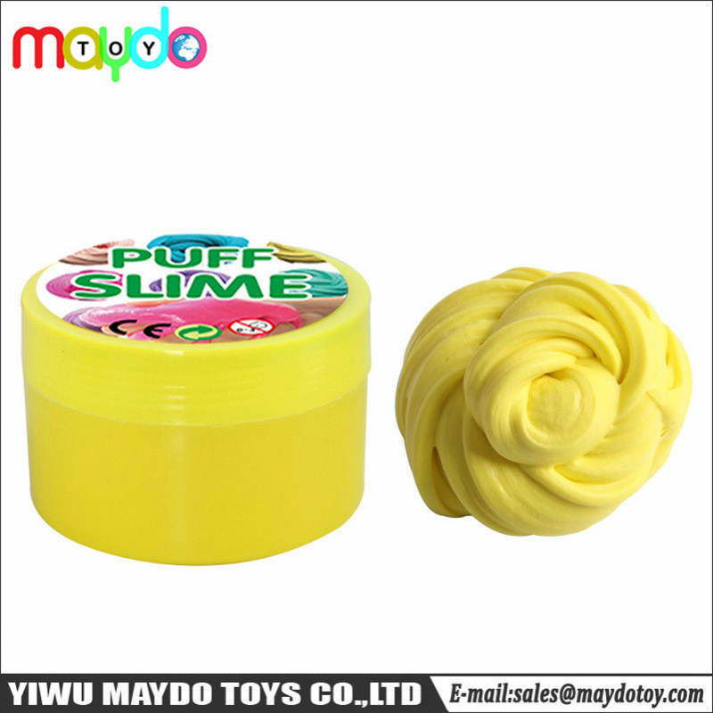 China Diy Fluffy Slime Foam Putty Puff Soft Non Sticky