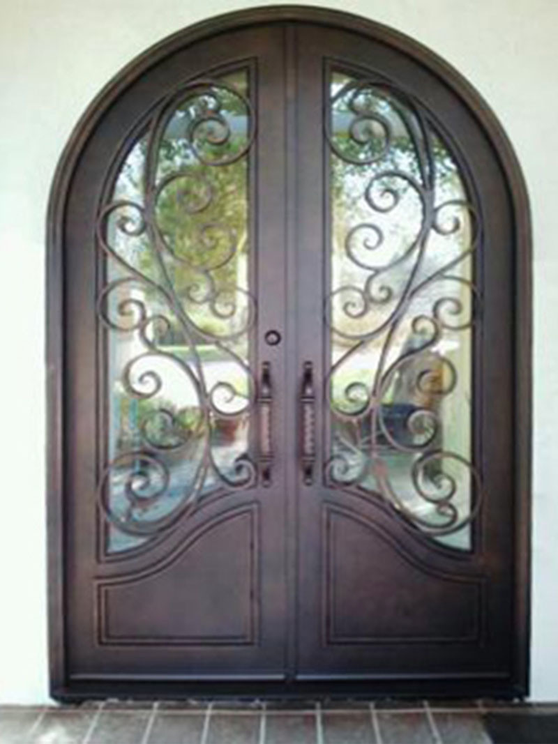 China Stumming Custom Security Exterior Double Iron Entry Door With