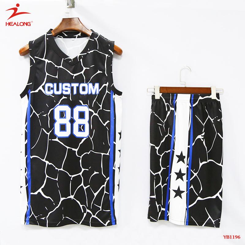 new concept 29782 f23c2 [Hot Item] Healong Man Sports Jerseys Team Set Cheap Stock Basketball  Uniform