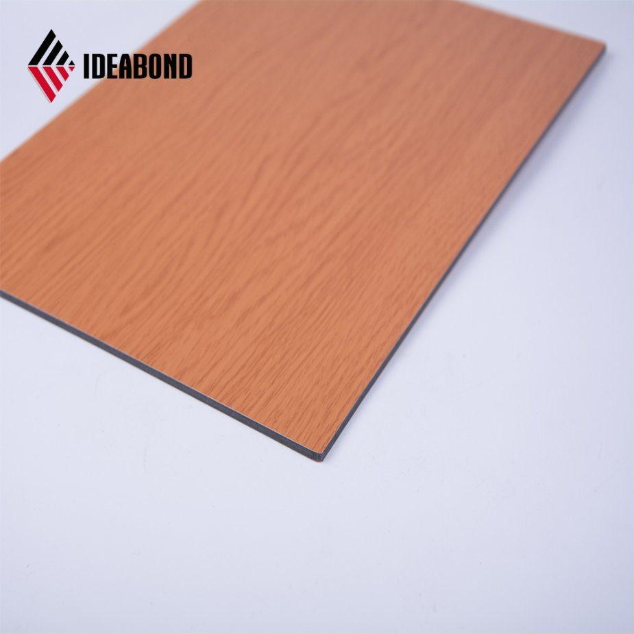 China 3 6mm Walnut Wood Color Anti Abrasion Aluminum Composite Panel