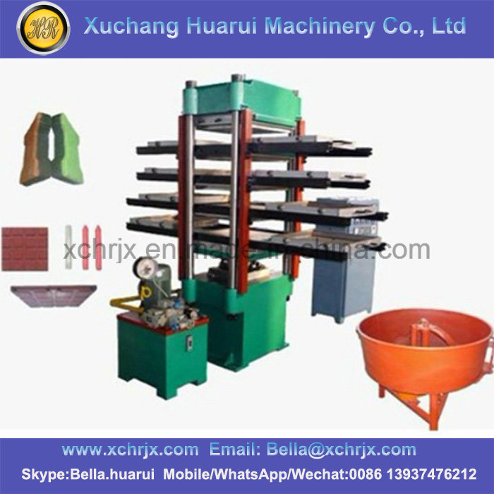 China Rubber Floor Tile Making Machine Rubber Hydraulic Tile