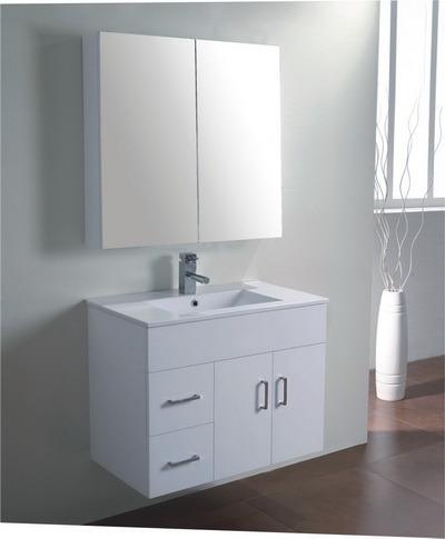 China Australia Style Traditional Bathroom Vanity Units With Mirror