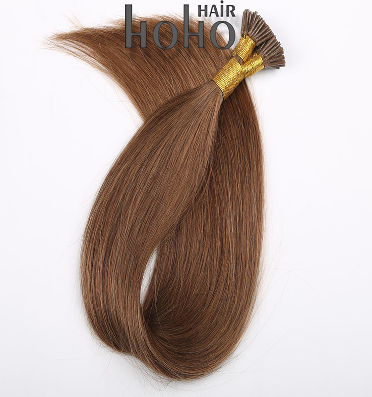 China Top Quality Human Hair 12 Inch Brown Remy I Tip Hair