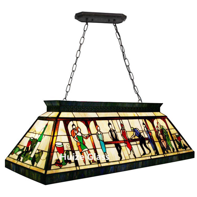 Hot Item High Quantity Tiffany Billiard Lights Stained Glass Pendant Lamp