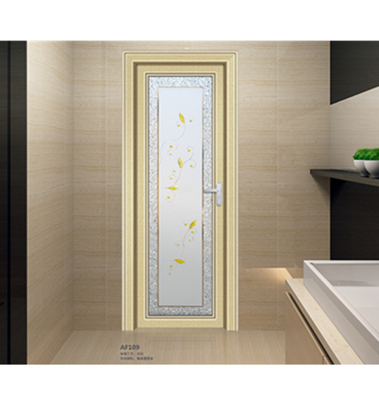 China Modern Design Casment Door Aluminum Glass Bathroom Door Toilet Door China Toilet Door Aluminum Bathroom Door