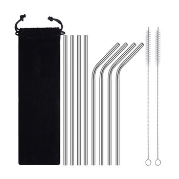 China Eco Friendly Stainless Steel Drinking Straws for