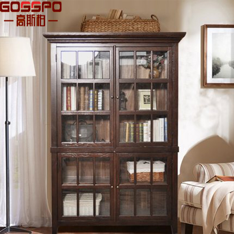 China Guangdong Wood Carved Bookcase