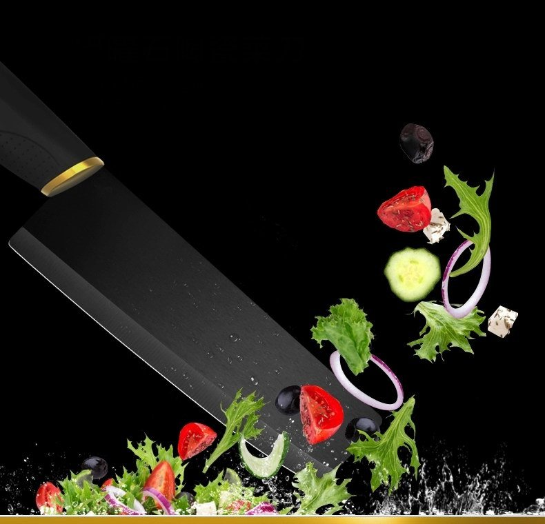 China Factory Extra Sharp Matt Black Ceramic Chef Cleaver Knife pictures & photos