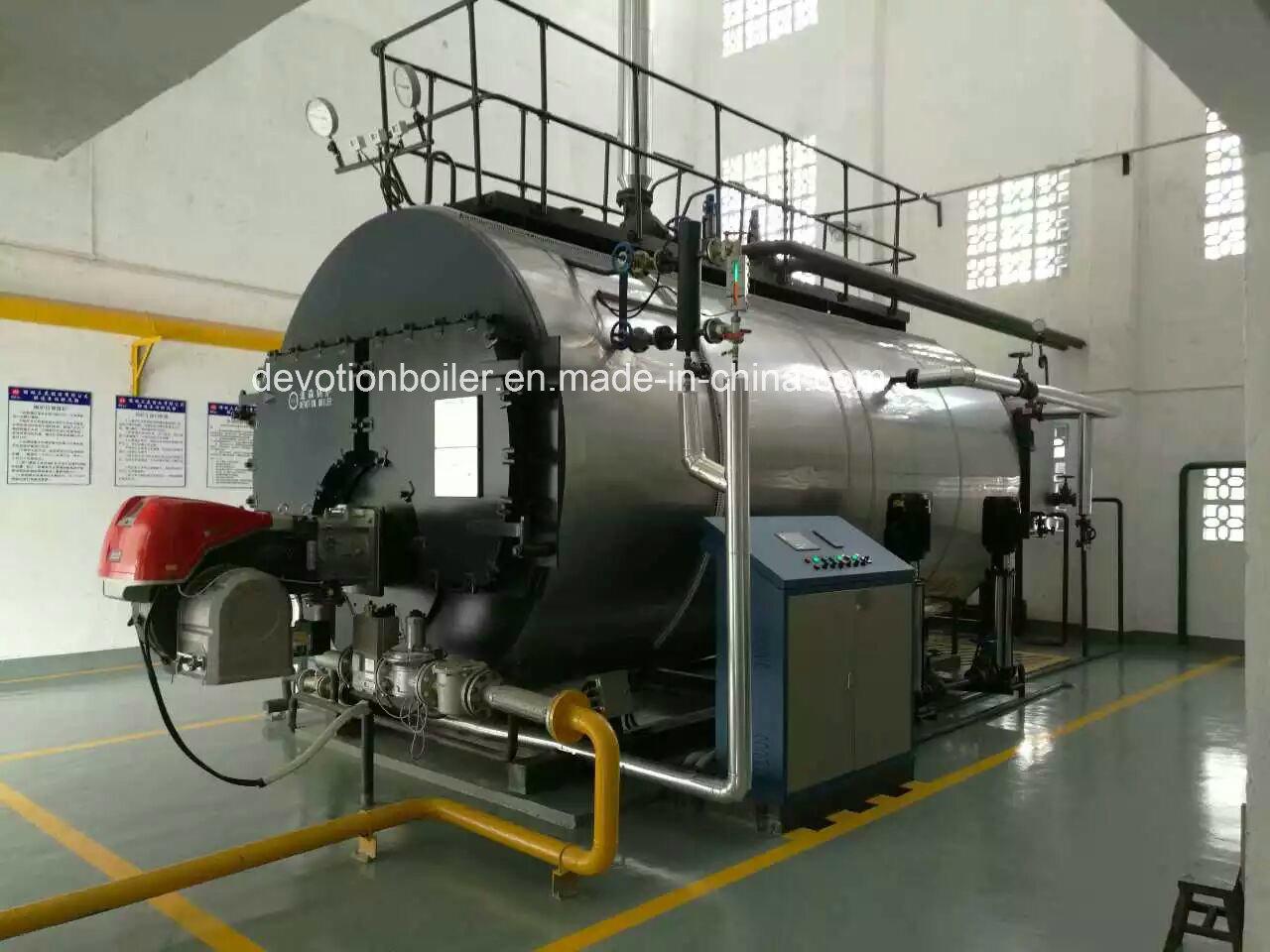 China Gas, Diesel, Mazut Three Pass Fire Tube Packaged Steam Boiler ...