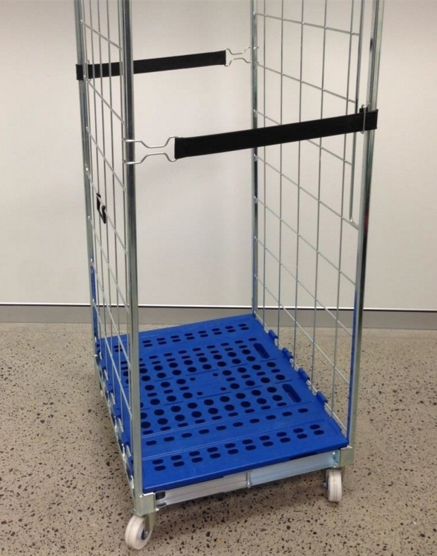 Europe Popular Roll Pallet Storage Hand Trolleyn Roll Container with Plastic Pallet pictures & photos