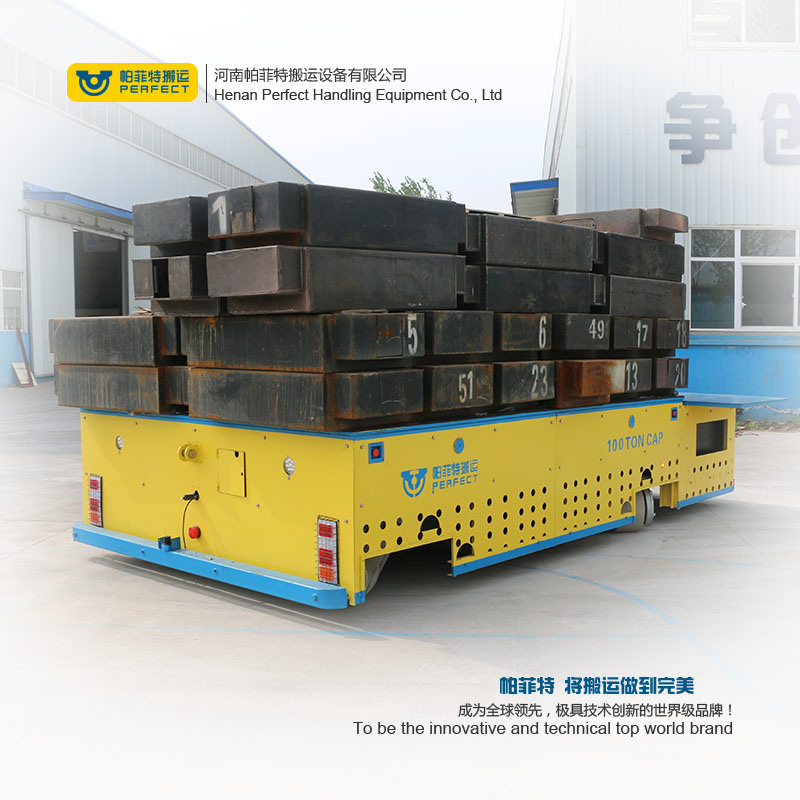 Heavy Duty Motorized Flat Bed Die Transfer Cart pictures & photos