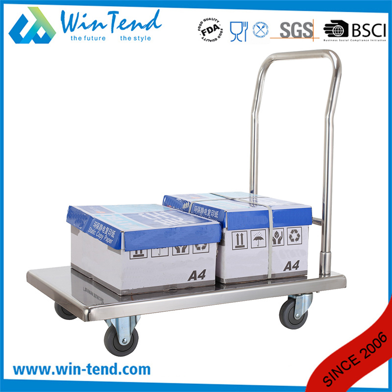 Knock-Down Structure Foldable Folding Hand Push Trolley Cart pictures & photos