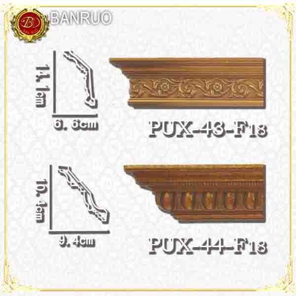 Antique PU Foam Cornice Moulding (PUX43-F18, PUX44-F18)