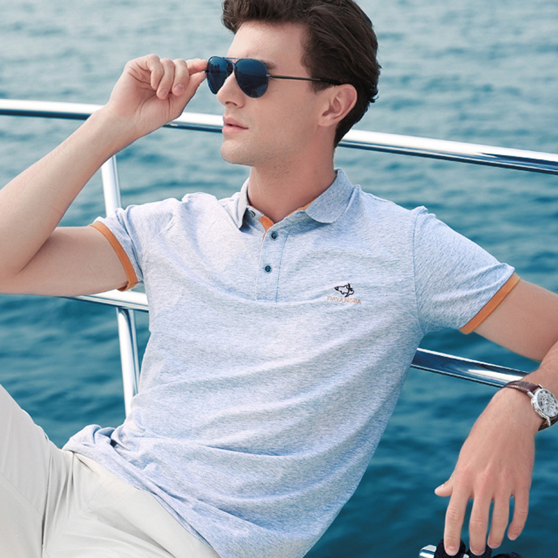 Leisure Wear Cheap 100% Cotton Men Polo Custom T Shirt