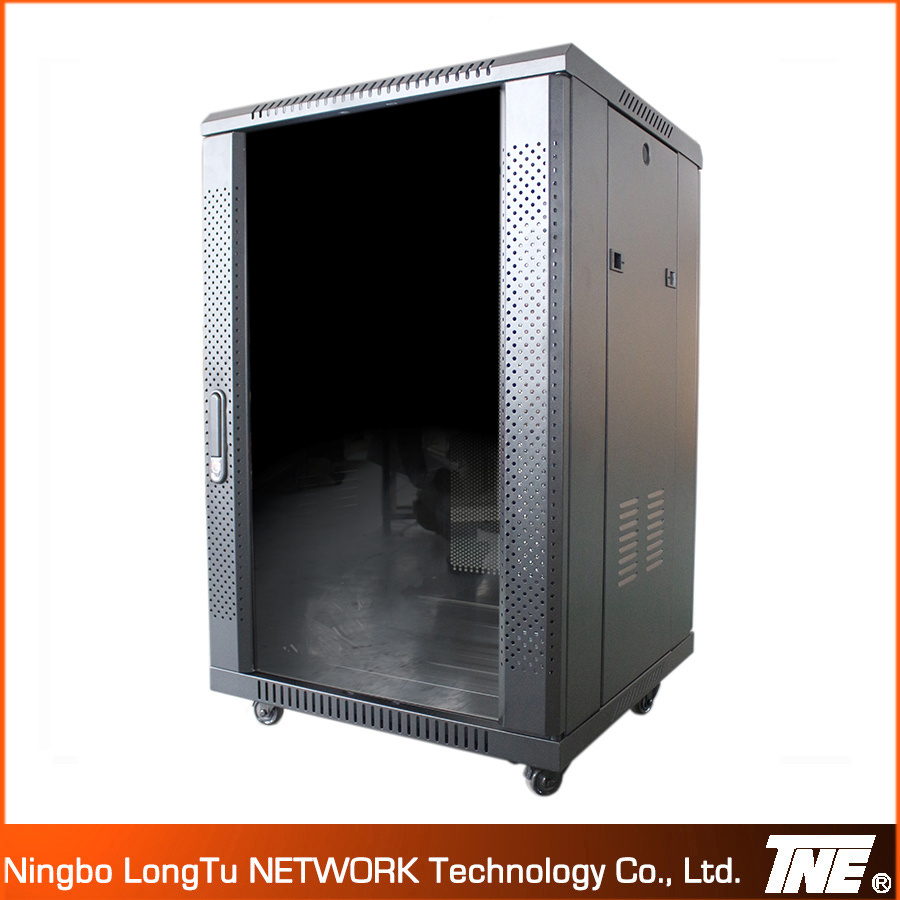 China 18u Floor Cabinet With Transparent Glass Door China Network