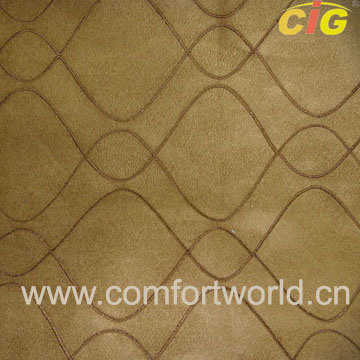 Embroidered Faux Suede Fabric (SHSF04215) pictures & photos
