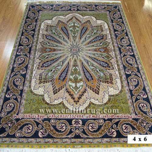 Turkish Pure Silk Carpets Handmade