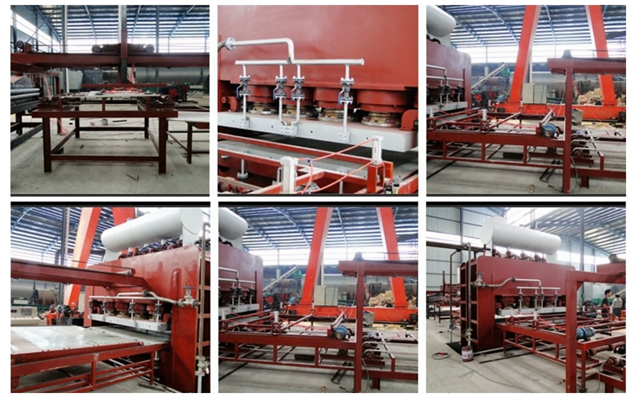 MDF/Plywood/Particle Board Short Cycle Melamine Lamination Hot Press Production Line pictures & photos