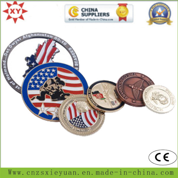 3D Brass Military Coins for Us Army Logo