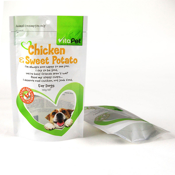 PE Dog Food Pouch with Hole