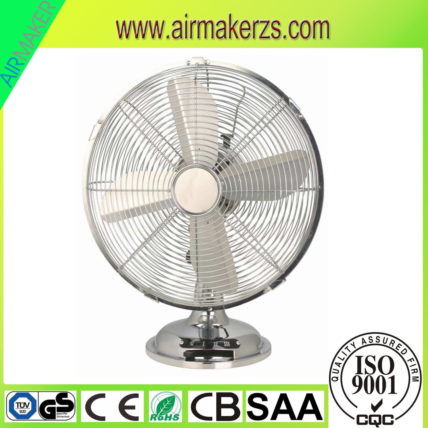 12 Retro Elegant Design Metal Desk Fan With Saa Cb Gs