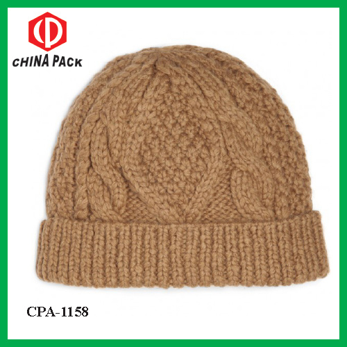 9e7d4e5f79ae1 China Soft Wool-Blend Cable Knit Beanie Hat in Camel (CPA-1158 ...
