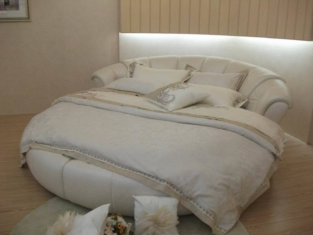 leather circle beds for kids | China Leather Round Bed (A6243) - China Round Bed, Fabric Bed