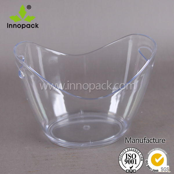 Walmart Large Round Transparent Plastic Acrylic Wine Ice Bucket Wholesale