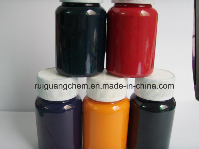 Yellow/ Blue/ Black/ Orange Pigment Printing Paste pictures & photos