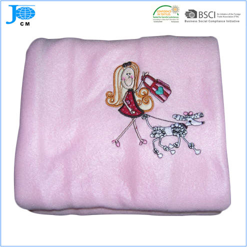 100%Polyester Polar Fleece Coral Fleece Promotional Embroidery Blanket pictures & photos