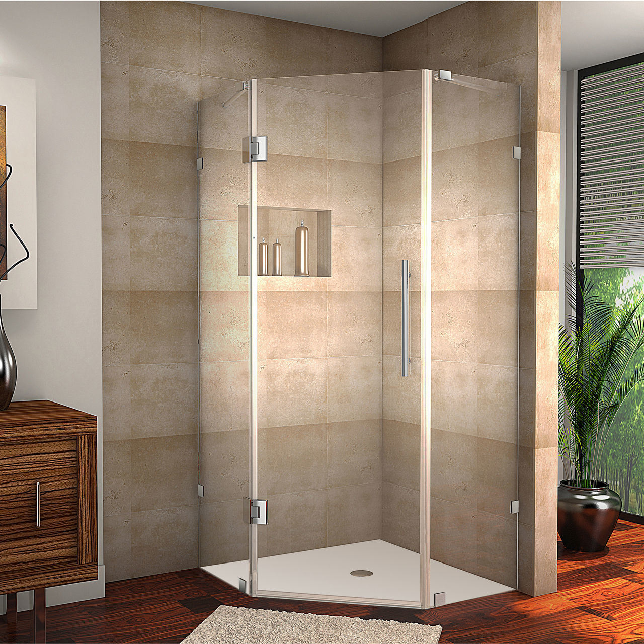 Hot Item Sanitary Ware Bathroom Accessories 40 X 40 72 Frameless Neo Angle Shower Cabin