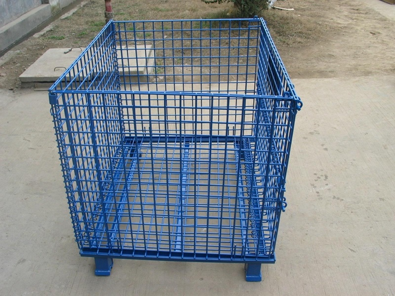 China High Quality Mesh Box Wire Cage Metal Bin Storage Container ...