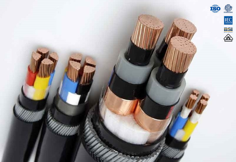 China Copper PVC / XLPE Insulated Steel Wire Armoured Power Cable ...