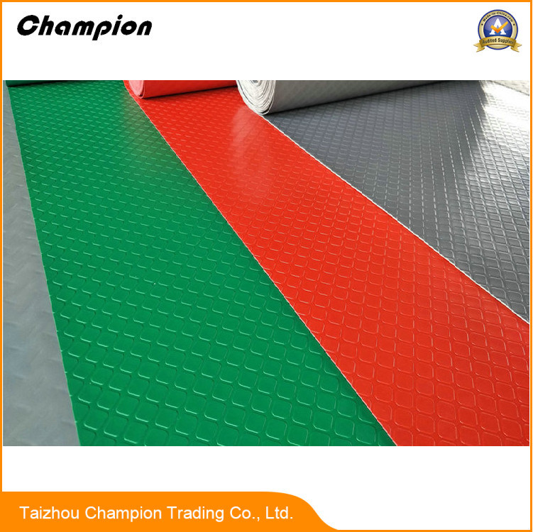China Pvc Flooring In Rolls Roll Garage Mat Rubber Out Anti Slip